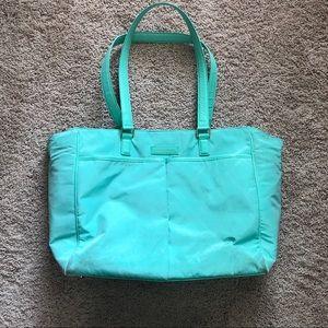 Vera Bradley preppy poly baby bag, mint green
